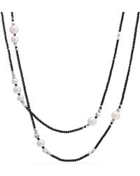David Yurman - Oceanica Tweejoux Necklace With Pearls And Black Spinel - Lyst