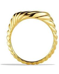 David Yurman - Sculpted Cable Pinky Ring In 18k Gold - Lyst