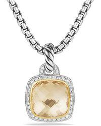 David Yurman - Albion® Pendant With Champagne Citrine, Diamonds And 18k Gold, 17mm - Lyst