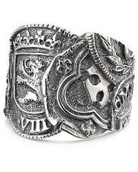 David Yurman - 23.5mm Shipwreck Coin Ring Sil - Lyst