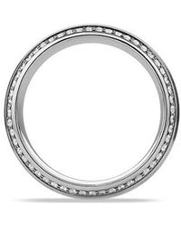 David Yurman - Knife Edge Band Ring With Diamonds In Platinum, 8mm - Lyst