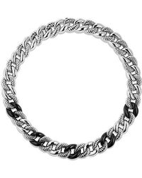 David Yurman - Belmont Curb Link Necklace With Black Onyx - Lyst