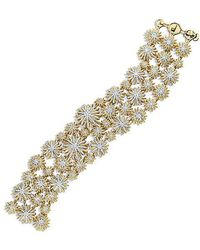 David Yurman - Starburst Mosaic Bracelet With Diamonds In 18k Gold - Lyst