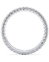 David Yurman - Dy Crossover Pave Nesting Wedding Band With Diamonds In Platnium, 1.9mm - Lyst