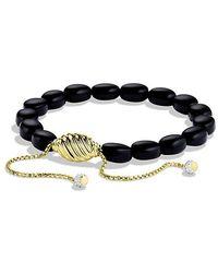 David Yurman - Signature Spiritual Bead Bracelet With Black Onyx And Diamonds In 18k Gold - Lyst