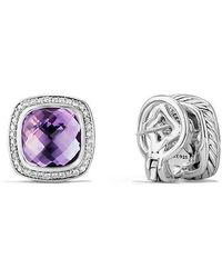 David Yurman - Albion® Earrings With Amethyst And Diamonds, 11mm - Lyst