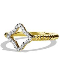 David Yurman - Cable Collectibles Quartrefoil Ring With Diamonds In 18k Gold - Lyst