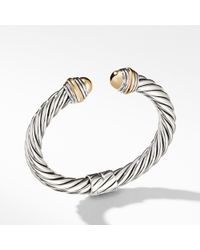 David Yurman - Cable Classics Bracelet With 14k Gold, 8.5mm - Lyst