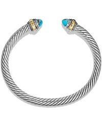 David Yurman - Cable Classic Bracelet With Turquoise And 14k Gold, 5mm - Lyst