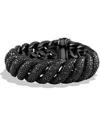 David Yurman | Hampton Cable Bracelet With Black Diamonds, 19mm | Lyst