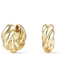 David Yurman | Sculpted Cable Small Earrings In 18k Gold | Lyst