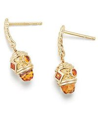 David Yurman - Renaissance Drop Earrings With Madeira Citrine In 18k Gold - Lyst