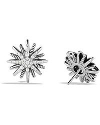 David Yurman | Starburst Earrings With Diamonds, 16mm | Lyst