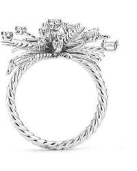 David Yurman - Supernova Ring With Diamonds In 18k White Gold, 33mm - Lyst