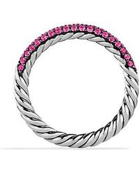 David Yurman - Petite Pavé Ring With Pink Sapphires - Lyst