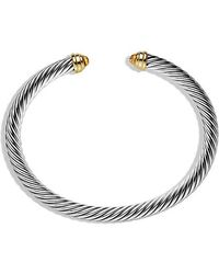 David Yurman - Cable Classics® Bracelet With Pearls And 14k Gold, 5mm - Lyst