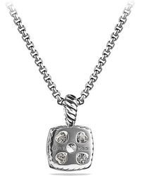David Yurman - Petite Albion® Pendant Necklace With White Topaz And Diamonds - Lyst
