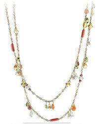 David Yurman - Bijoux Necklace With Citrine, Prenite And Peridot In 18k Gold - Lyst