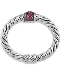 David Yurman | Osetra Center Station Bracelet With Rhodalite Garnet, 10mm | Lyst
