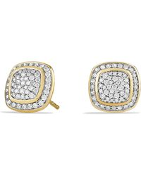 David Yurman - Albion® Earrings With Diamonds In 18k Gold - Lyst