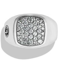 David Yurman - Exotic Stone Signet Ring With Grey Sapphire - Lyst