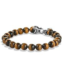 David Yurman - Spiritual Beads Bracelet With Tiger's Eye, 8mm - Lyst