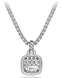 David Yurman - Albion® Pendant With Amethyst And Diamonds, 11mm - Lyst