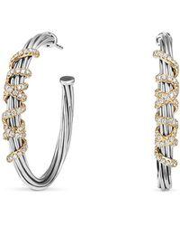 David Yurman - Helena Large Hoop Earrings With Diamonds And 18k Gold - Lyst