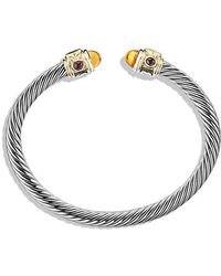 David Yurman - Renaissance Bracelet With Citrine, Rhodalite Garnet And 14k Gold, 5mm - Lyst