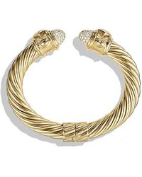 David Yurman - Renaissance Bracelet With Diamonds In 18k Gold, 10mm - Lyst
