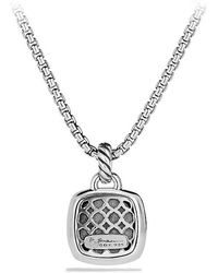 David Yurman - Albion Pendant With Black Diamonds, 14mm - Lyst