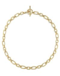 David Yurman | Cushion Link Necklace With Diamonds In 18k Gold, 9.5mm | Lyst