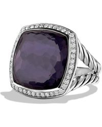 David Yurman - Albion® Ring With Black Orchid And Diamonds, 17mm - Lyst