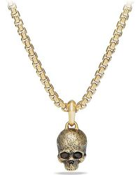 David Yurman - Cable Classics Skull Pendant In 18k Gold - Lyst