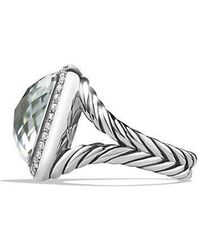 David Yurman - Albion® Ring With Prasiolite And Diamonds, 14mm - Lyst