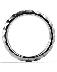 David Yurman - Modern Cable Narrow Band Ring In Gray Titanium, 6mm - Lyst