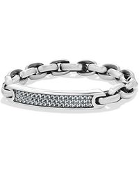 David Yurman - Streamline Id Bracelet With Gray Sapphire - Lyst