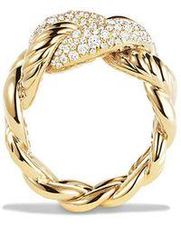 David Yurman - Belmont Ring With Diamonds In 18k Gold - Lyst
