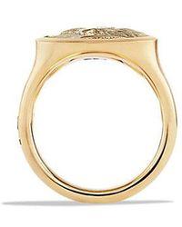 David Yurman - Petrvs Lion Signet Ring In 18k Gold - Lyst