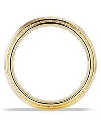 David Yurman | Knife Edge Band Ring In 18k Gold, 8mm | Lyst