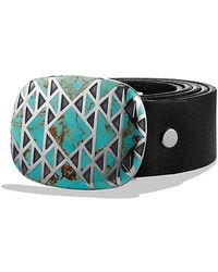 David Yurman - Belt Buckle With Turquoise - Lyst