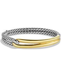 David Yurman - Labyrinth Single-loop Bracelet With 18k Gold, 10mm - Lyst