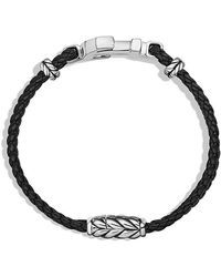 David Yurman - Pavé Anchor Bracelet With Black Diamonds - Lyst