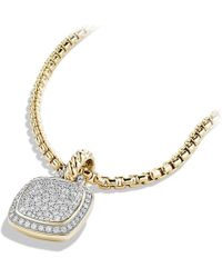 David Yurman | Albion Pendant With Diamonds In 18k Gold, 11mm | Lyst