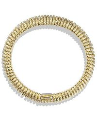 David Yurman - Bracelet With Diamonds In 18k Gold, 12mm - Lyst