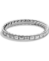 David Yurman - Dy Wisteria Eternity Wedding Band With Diamonds In Platinum - Lyst