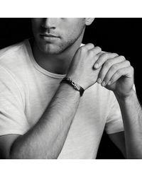 David Yurman - Chevron Double Wrap Leather Bracelet In Black - Lyst