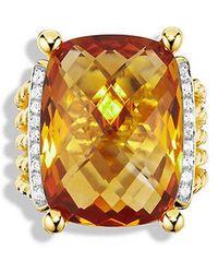 David Yurman | Wheaton Ring With Citrine And Diamonds In 18k Gold | Lyst