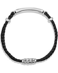 David Yurman - Exotic Stone Bar Station Bracelet In Black Leather With Black Onyx - Lyst