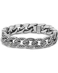 David Yurman - Maritime Curb Link Bracelet, 11.5mm - Lyst